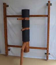Wall Mounted Adjustable Wing Tsun Wooden Dummy, Mook Jong WCM004 New Version