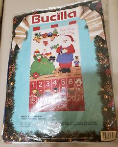 1991 Bucilla SANTA'S WORKSHOP Felt Advent Calendar