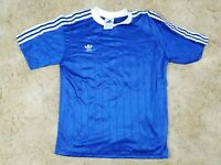 Vtg Adidas Men's Trefoil Blue 3 Stripes 1998 Soccer Jersey Adult S NEW 90s USA