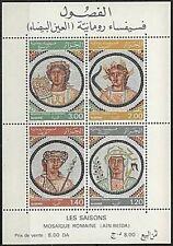 ALGERIE BLOC N°2A** (dentelé) Bf Mosaïques Romaines 1977 ALGERIA PERF. SHEET MNH
