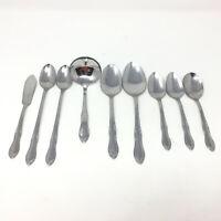 Simeon L George H Rogers Co. Oneida Flatware Homestead Mixed Lot Spoons Ladle