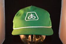 Pioneer Seed Company Farmers Hat Adjustable Snap Back Vintage Truckers Cap Green