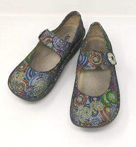Alegria (PAL-387) - Paloma Bullseye Clogs Mosaic Mary Janes - Women's US 8-8.5