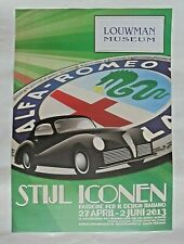 Alfa Romeo Freccia D'oro Louwman Museum Original Poster 2013 70cm x 50cm