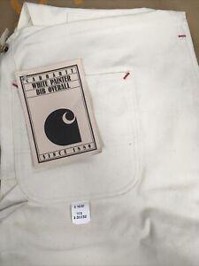 Carhartt Painter Bib 7FB High Back USA Made Natural Cotton 38 x 32 NWT *Vintage*