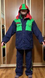 SOS Vintage Men's Ski Jacket  Coat and Pants Size 52