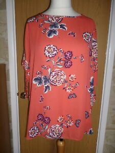 George Asda Women's Coral Floral Top size 20