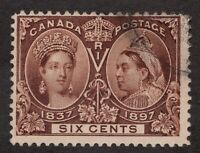 Sc55 - Canada - 6 Cent - 1897 Diamond Jubilee - Used - superfleas - cv $175
