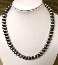"""Santo Domingo """"Pearls"""" Sterling Silver Necklace 20"""" Sandra Zambrano"""