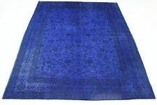 Vintage élégant LOBULE délavé très bien Tapis de Perse d'Orient 3,09 x 2,24