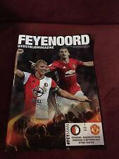Feyenoord V Manchester United 15 September 2016 Programme