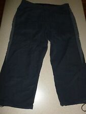 PATAGONIA Capri Cargo Pants Organic Cotton Nylon Charcoal Cropped Womens sz 8