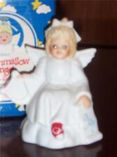 Marshamallow Angel by Roman Angel with Harp Porcelain Figurine New