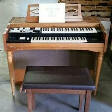 Vintage Wurlitzer Model 4070 Organ All Keys Work Comes With Bench