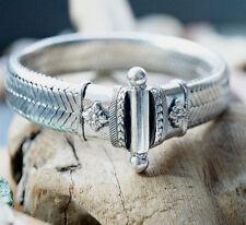 Silber Armband 21 cm 13,5 x 5 Flach Schlangenkette Handarbeit Massiv Verspielt