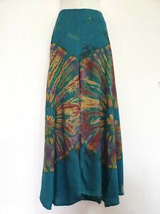 New Ladies Tie Dye Wide Leg Pants Palazzo Lagenlook Bohemian Gypsy Trousers WLTD