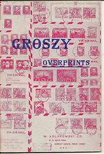Groszy Overprints on Polish Stamps W. Kolakowski 1952 new old stock paperback 8