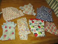 Vintage Aprons / assorted lot of 7  1960s /70s  1 full 6 half