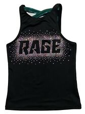 REBEL ATHLETIC Adult Large RAGE Cheerleading Studded Top