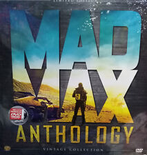 MAD MAX ANTHOLOGY. PACK 4 PELÍCULAS MAD MAX EN DVD. ED. LIMITADA VINILO. NUEVO.