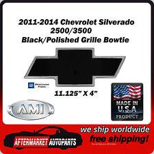2011-2014 Silverado 2500 Black/Polished Billet Bowtie Grille Emblem AMI 96197KP