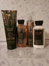 Bath & Body Works INTO THE NIGHT 4 pc Body Wash Gel Lotion Mist FREE Shipping