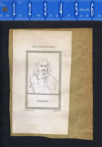 Composer George Handel & Thomas Hobbes - 1809 Portrait Prints