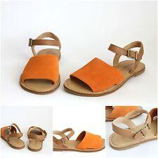 Sandalias Timberland marrón y naranja Suede & Leather Zapatos Planos UK Size 4.5 EU 37.5