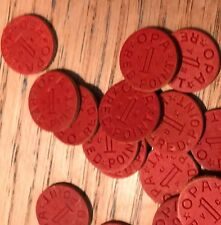 1 PCS WWII OPA RED POINT RATION (1 TOKEN) BU TAKEN FROM ORIGINAL WW2 BOX S2000