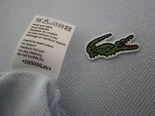 LACOSTE POLO SHIRT, DEVANLAY, SIZE - 4 / MEDIUM, BLUE, VGC