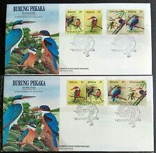 1993 Malaysia Birds --- Kingfishers 8v Stamps (Se-Tenant x2 formats) FDC x1 Pair