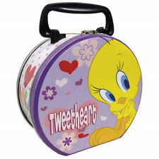 "Looney Tunes Tweety Bird ""Tweetheart"" Collectible Circular Tin Tote, NEW UNUSED"
