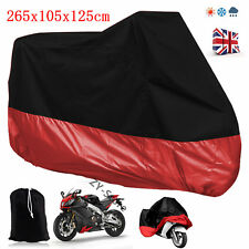 Large Motorbike Cover Extra XL Outdoor Waterproof Motorcycle All Weather Rain UK