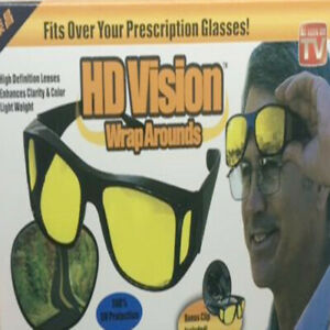 HD Night/Day Vision Wraparound Glasses as Seen on TV Sunglasses Fit Over Driving