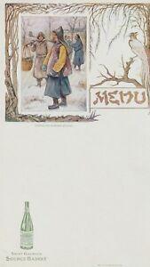 """menu source badoit """"  chinois en costume d'hiver"""""""