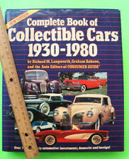 COMPLETE BOOK OF COLLECTIBLE CARS 1930 - 1980 H-C w/ DJ 416-pgs DATA Values XLNT