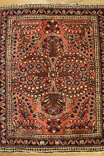 2'x 3' Persian Sarouk Oriental Rug Handmade Woven Genuine Antique (ca.1880)