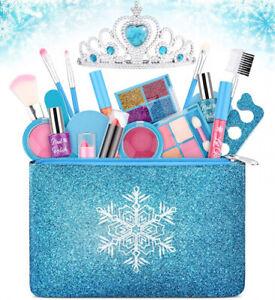 Kids Makeup Kit for Girls, Washable Real Makeup Set for Little Girls, Princess