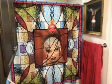 Parody Church of  Baltimore Divine Drag Queen Shower Curtain Stained Glass Gay