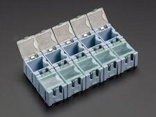 Adafruit pequeño Modular Cajas de almacenamiento de información de componentes SMD de Snap - - Paquete de 10 [ADA427]