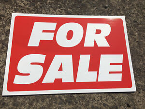 Catchy TOUGH ROBUST 'FOR SALE / SOLD SIGNS' Trade pack of 10x SIGNS 500 X 400mm