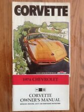 1974 Chevrolet Covette Owner's Manual And Sales Brochure
