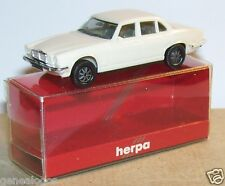 MICRO HERPA HO 1/86 1/87 JAGUAR XJ 6 12 BLANC CREME in BOX 2