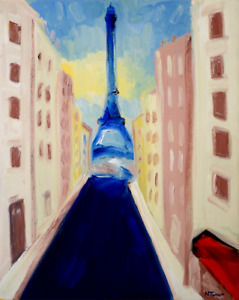 Eiffel Tower Original Oil Painting Canvas French Impressionist Art Neal Turner