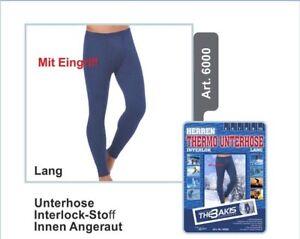 1*2*4* Stück Herren Thermo Unterhose Leggings Hose Winter Unterwäsche Baumwolle