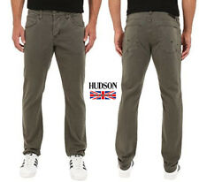 New Hudson Men's Byron Straight Slim Jeans in Ares Style M255DLE Size W 28 L 34