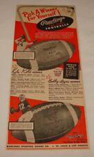 1954 Rawlings football ad ~ KYLE ROTE, BOBBY LAYNE