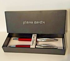 Pierre Cardin Red/Silver Pen and Pencil Set in Box - NEW