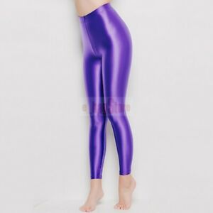 LEOHEX Women Sexy Pantyhose Stockings Satin Glossy Opaque Shiny Tights Gamaschen