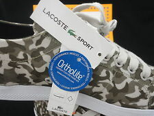 Lacoste Marcel Camo Supreme Canvas, Camouflage, Ortholite Casual, Size 10.5
